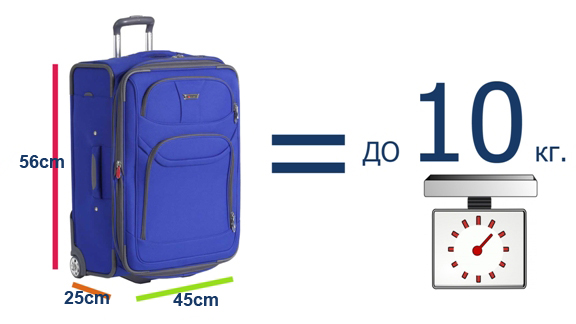 Платен ръчен багаж за самолета размери