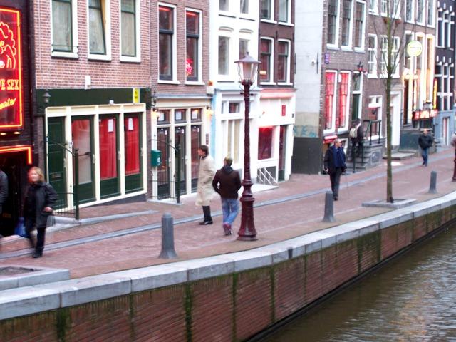 Червените фенери в Амстердам