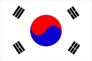 Южна Корея знаме